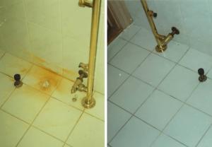Afkalkning af badeværelse