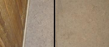 Rengøring af linoleum før og efter