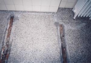 Reparation af terrazzogulv